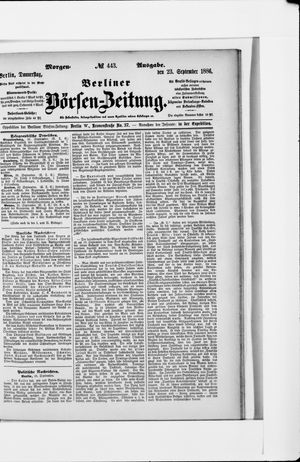 Berliner Börsen-Zeitung vom 23.09.1886