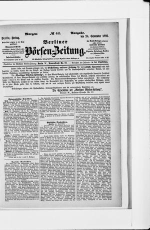 Berliner Börsen-Zeitung vom 24.09.1886