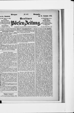 Berliner Börsen-Zeitung vom 25.09.1886