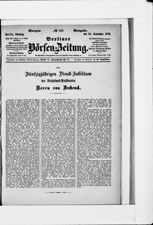 Berliner Börsen-Zeitung vom 26.09.1886