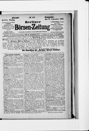 Berliner Börsen-Zeitung vom 27.09.1886