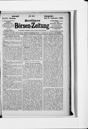 Berliner Börsen-Zeitung vom 28.09.1886