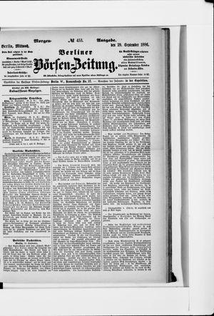 Berliner Börsen-Zeitung vom 29.09.1886