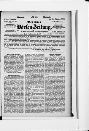 Berliner Börsen-Zeitung vom 30.09.1886