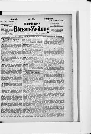 Berliner Börsen-Zeitung vom 01.10.1886