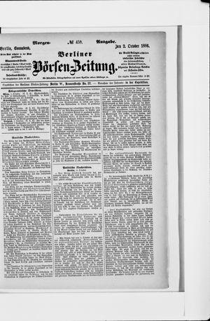 Berliner Börsen-Zeitung vom 02.10.1886