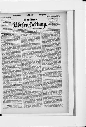Berliner Börsen-Zeitung vom 05.10.1886