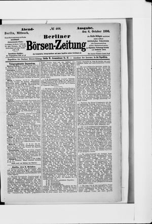 Berliner Börsen-Zeitung vom 06.10.1886