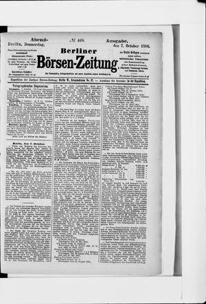 Berliner Börsen-Zeitung vom 07.10.1886