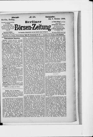Berliner Börsen-Zeitung vom 08.10.1886