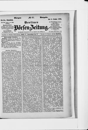 Berliner Börsen-Zeitung vom 09.10.1886