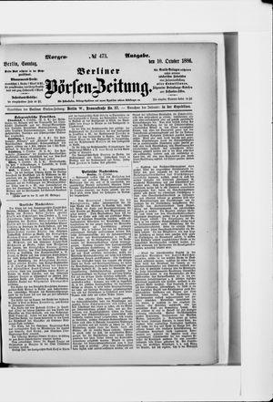 Berliner Börsen-Zeitung vom 10.10.1886