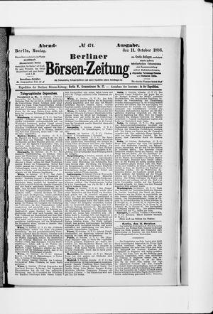 Berliner Börsen-Zeitung vom 11.10.1886