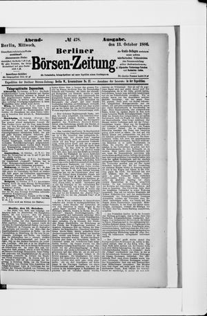 Berliner Börsen-Zeitung vom 13.10.1886