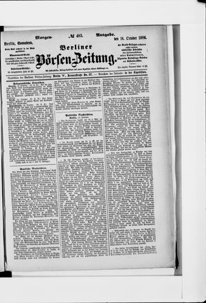 Berliner Börsen-Zeitung vom 16.10.1886