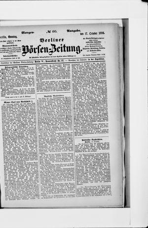 Berliner Börsen-Zeitung vom 17.10.1886