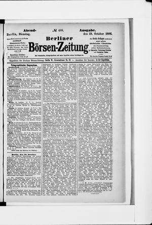 Berliner Börsen-Zeitung vom 19.10.1886