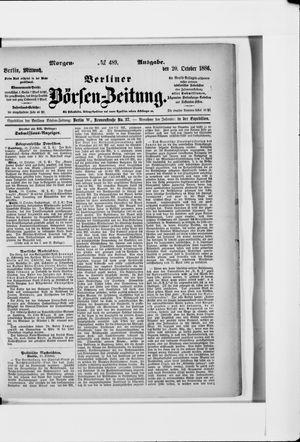 Berliner Börsen-Zeitung vom 20.10.1886