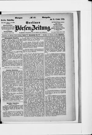 Berliner Börsen-Zeitung vom 21.10.1886