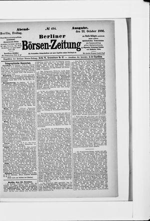 Berliner Börsen-Zeitung vom 22.10.1886