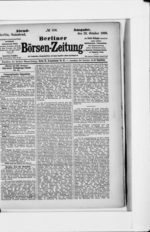 Berliner Börsen-Zeitung vom 23.10.1886