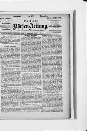 Berliner Börsen-Zeitung vom 24.10.1886