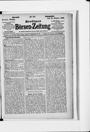 Berliner Börsen-Zeitung vom 25.10.1886