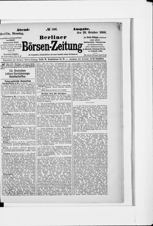 Berliner Börsen-Zeitung vom 26.10.1886