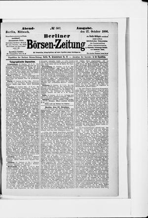 Berliner Börsen-Zeitung vom 27.10.1886