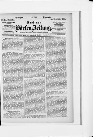 Berliner Börsen-Zeitung vom 28.10.1886