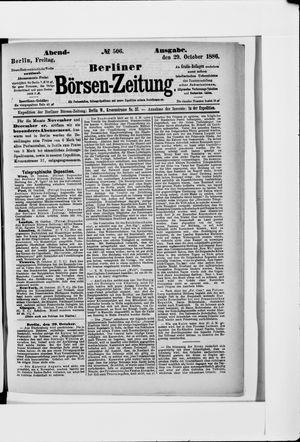 Berliner Börsen-Zeitung vom 29.10.1886
