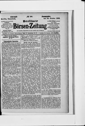 Berliner Börsen-Zeitung vom 30.10.1886