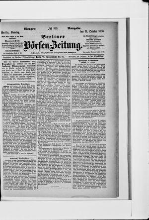 Berliner Börsen-Zeitung vom 31.10.1886