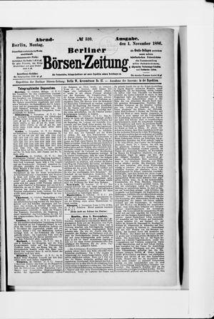 Berliner Börsen-Zeitung vom 01.11.1886