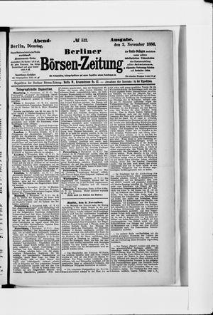 Berliner Börsen-Zeitung vom 02.11.1886