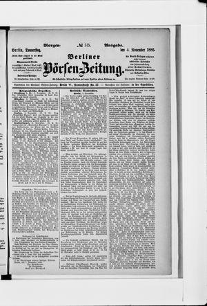 Berliner Börsen-Zeitung vom 04.11.1886