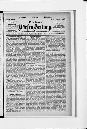 Berliner Börsen-Zeitung vom 05.11.1886
