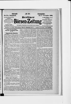 Berliner Börsen-Zeitung vom 06.11.1886