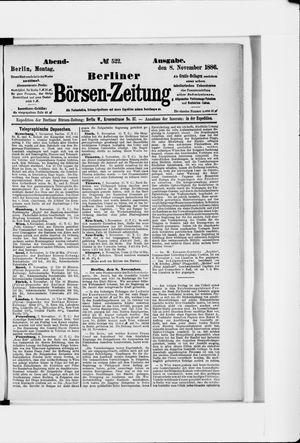 Berliner Börsen-Zeitung vom 08.11.1886