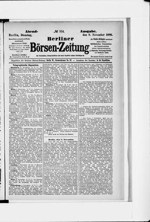 Berliner Börsen-Zeitung vom 09.11.1886