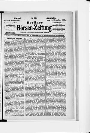 Berliner Börsen-Zeitung vom 11.11.1886