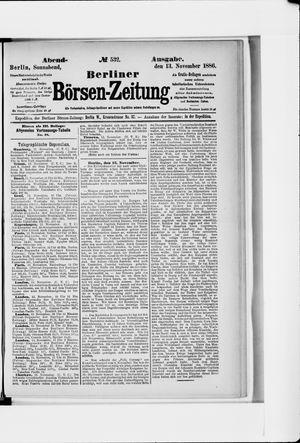 Berliner Börsen-Zeitung vom 13.11.1886