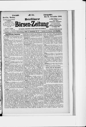 Berliner Börsen-Zeitung vom 15.11.1886