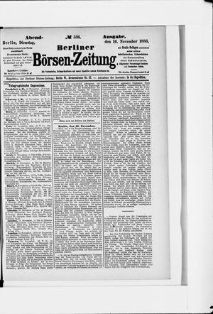 Berliner Börsen-Zeitung vom 16.11.1886