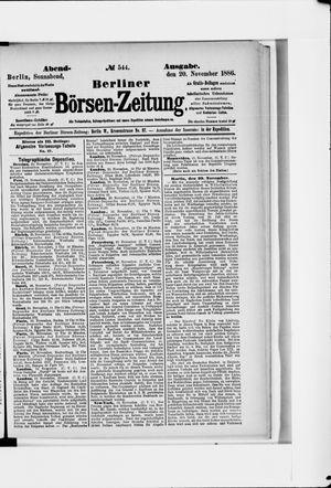 Berliner Börsen-Zeitung vom 20.11.1886