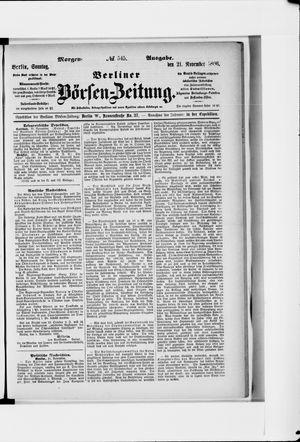 Berliner Börsen-Zeitung vom 21.11.1886