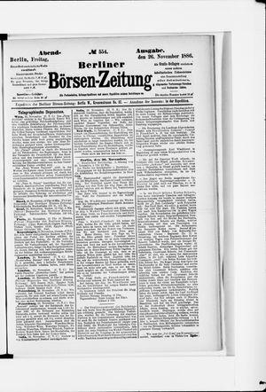 Berliner Börsen-Zeitung vom 26.11.1886