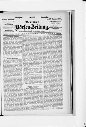 Berliner Börsen-Zeitung vom 27.11.1886