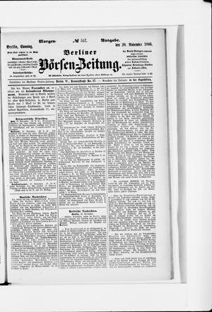 Berliner Börsen-Zeitung vom 28.11.1886