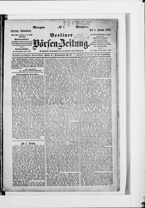Berliner Börsen-Zeitung vom 01.01.1887